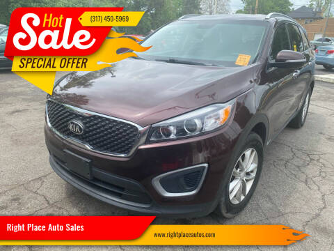 2016 Kia Sorento for sale at Right Place Auto Sales in Indianapolis IN