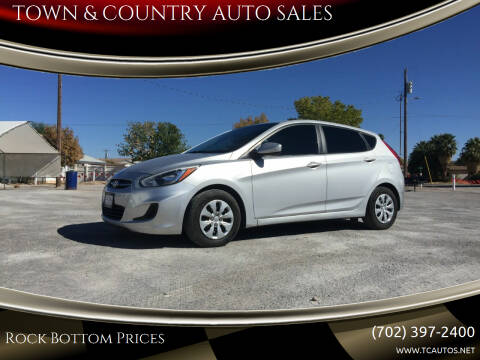 2016 Hyundai Accent for sale at TOWN & COUNTRY AUTO SALES in Overton NV