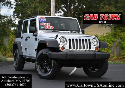 2008 Jeep Wrangler Unlimited for sale at Car Town USA in Attleboro MA