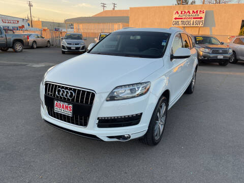 2015 Audi Q7 for sale at Adams Auto Sales in Sacramento CA