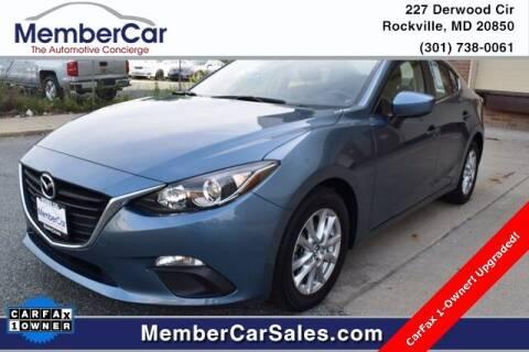 2016 Mazda MAZDA3 for sale at MemberCar in Rockville MD