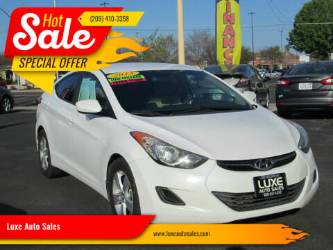 2013 Hyundai Elantra for sale at Luxe Auto Sales in Modesto CA