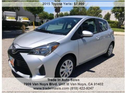 2015 Toyota Yaris for sale at Trade In Auto Sales in Van Nuys CA