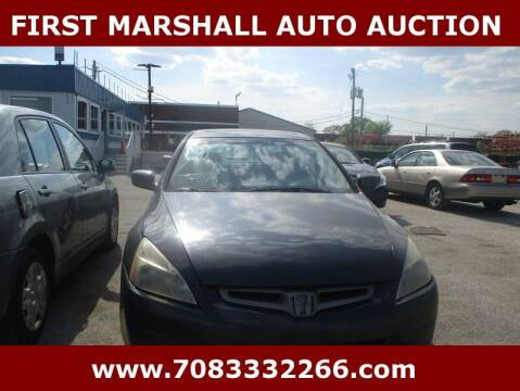 2004 Honda Accord for sale at First Marshall Auto Auction in Harvey IL