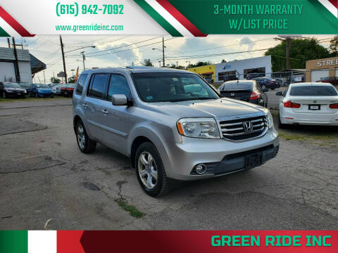 2012 Honda Pilot for sale at Green Ride Inc in Nashville TN
