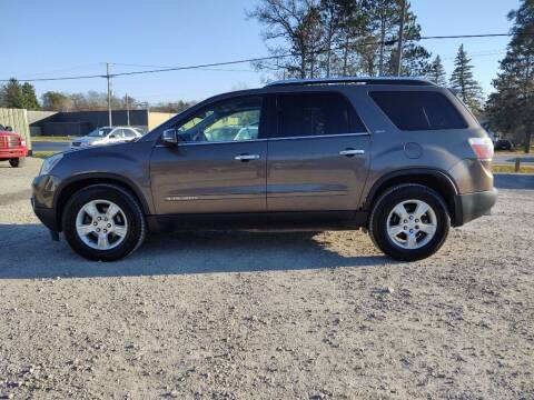 2008 GMC Acadia for sale at Hilltop Auto in Prescott MI