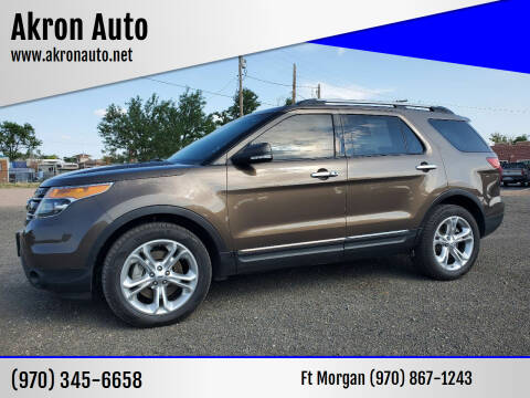 2015 Ford Explorer for sale at Akron Auto in Akron CO