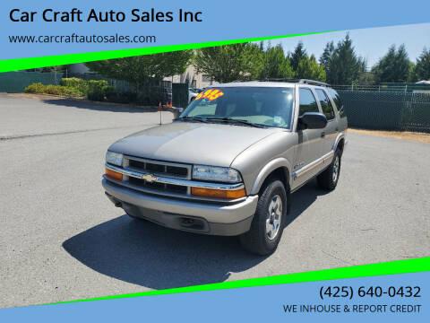 2004 Chevrolet Blazer for sale at Car Craft Auto Sales Inc in Lynnwood WA