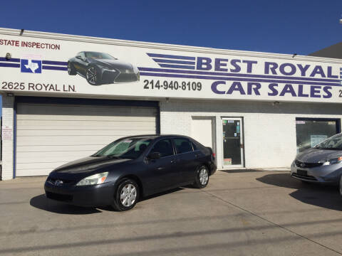 2003 Honda Accord for sale at Best Royal Car Sales in Dallas TX