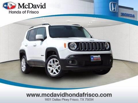 2017 Jeep Renegade for sale at DAVID McDAVID HONDA OF IRVING in Irving TX