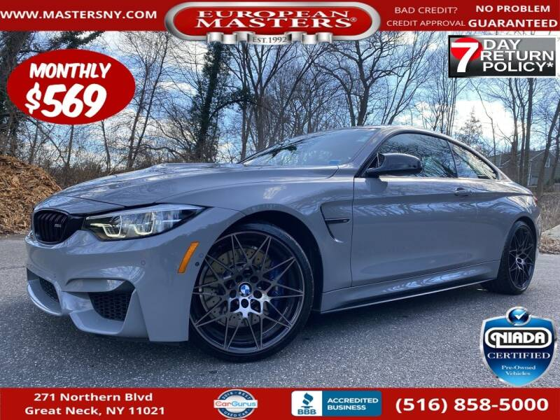 2018 BMW M4 for sale at European Masters in Great Neck NY