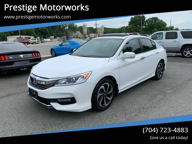 2016 Honda Accord for sale at Prestige Motorworks in Concord NC