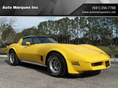 1981 Chevrolet Corvette for sale at Auto Marques Inc in Sarasota FL