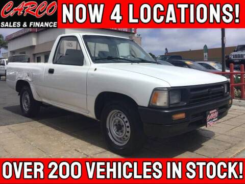 1994 Toyota Pickup for sale at CARCO SALES & FINANCE - Under 7000 in Chula Vista CA