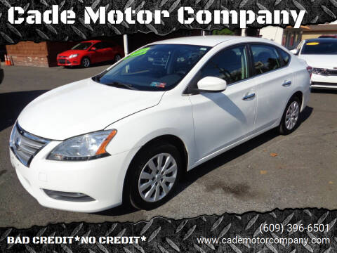 2014 Nissan Sentra for sale at Cade Motor Company in Lawrenceville NJ
