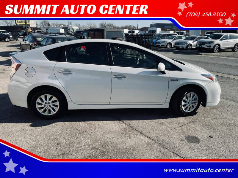 2015 Toyota Prius Plug-in Hybrid for sale at SUMMIT AUTO CENTER in Summit IL