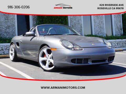 2001 Porsche Boxster for sale at Armani Motors in Roseville CA