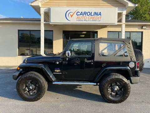 2012 Jeep Wrangler for sale at Carolina Auto Credit in Youngsville NC