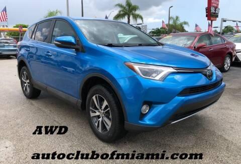 2018 Toyota RAV4 for sale at AUTO CLUB OF MIAMI, INC in Miami FL