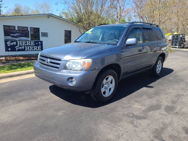 2006 Toyota Highlander for sale at TR MOTORS in Gastonia NC