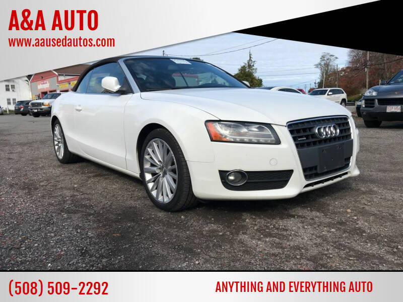 2010 Audi A5 for sale at A&A AUTO in Fairhaven MA