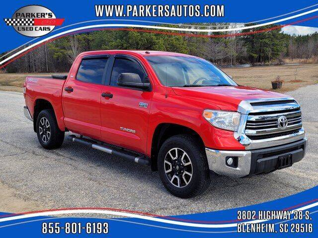 2016 Toyota Tundra for sale at Parker's Used Cars in Blenheim SC