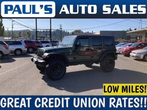 2009 Jeep Wrangler Unlimited for sale at Paul's Auto Sales in Eugene OR