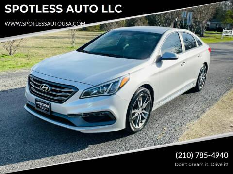 2017 Hyundai Sonata for sale at SPOTLESS AUTO LLC in San Antonio TX