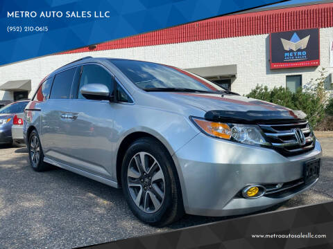2015 Honda Odyssey for sale at METRO AUTO SALES LLC in Blaine MN