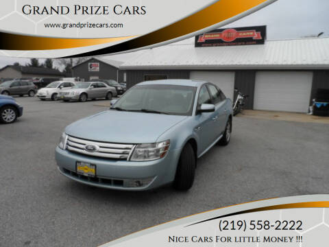 2008 Ford Taurus for sale at Grand Prize Cars in Cedar Lake IN