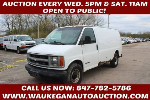 2002 Chevrolet Express Cargo for sale at Waukegan Auto Auction in Waukegan IL
