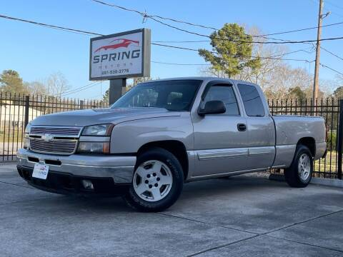 2006 Chevrolet Silverado 1500 for sale at Spring Motors in Spring TX