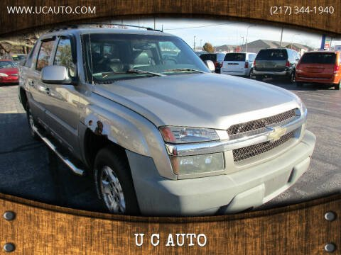2002 Chevrolet Avalanche for sale at U C AUTO in Urbana IL