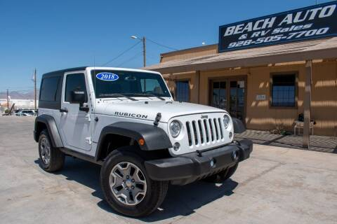 2018 Jeep Wrangler JK for sale at Beach Auto and RV Sales in Lake Havasu City AZ