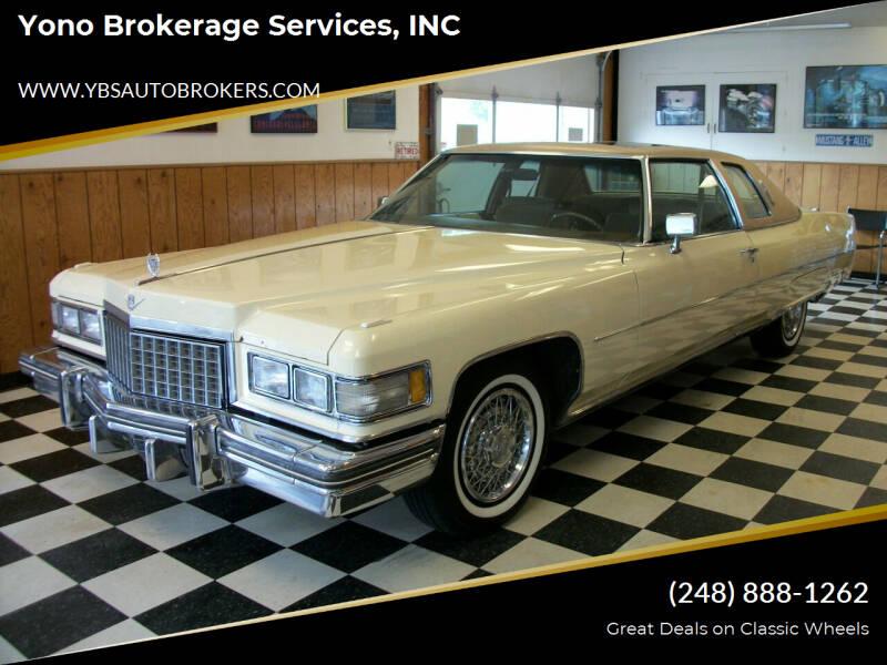1976 Cadillac DeVille for sale at Yono Brokerage Services, INC in Farmington MI