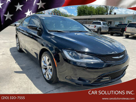 2016 Chrysler 200 for sale at Car Solutions Inc. in San Antonio TX