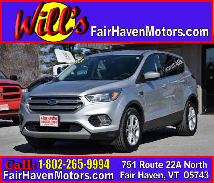 2017 Ford Escape for sale at Will's Fair Haven Motors in Fair Haven VT