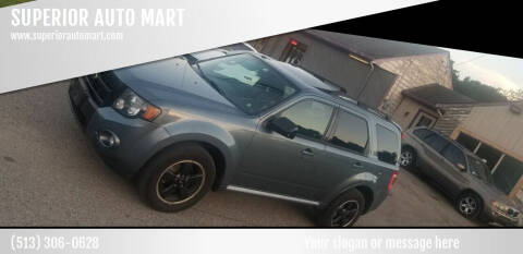 2011 Ford Escape for sale at SUPERIOR AUTO MART in Amelia OH