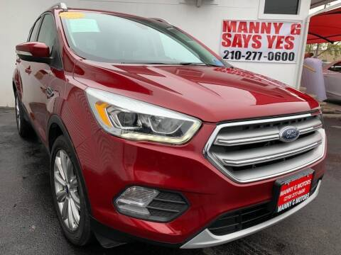 2017 Ford Escape for sale at Manny G Motors in San Antonio TX