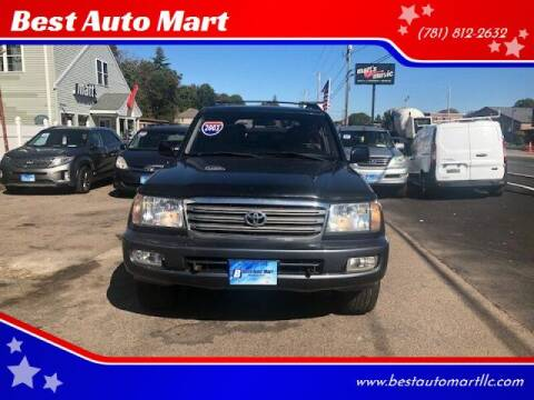 2003 Toyota Land Cruiser for sale at Best Auto Mart in Weymouth MA