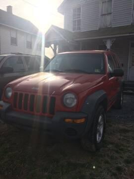 2003 Jeep Liberty for sale at Village Auto Center INC in Harrisonburg VA