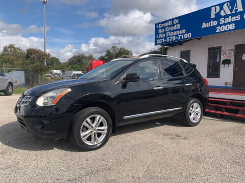 2012 Nissan Rogue for sale at P & A AUTO SALES in Houston TX
