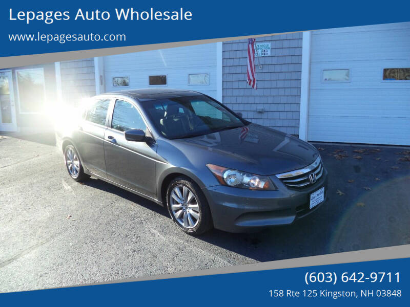 2012 Honda Accord for sale at Lepages Auto Wholesale in Kingston NH