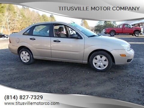 2006 Ford Focus for sale at Titusville Motor Company in Titusville PA