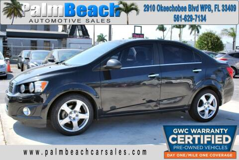 2015 Chevrolet Sonic for sale at Palm Beach Automotive Sales in West Palm Beach FL