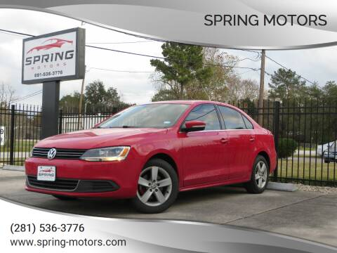 2012 Volkswagen Jetta for sale at Spring Motors in Spring TX