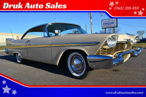 1958 Plymouth Fury for sale at Druk Auto Sales in Ramsey MN
