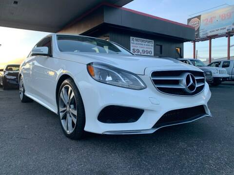 2014 Mercedes-Benz E-Class for sale at JQ Motorsports East in Tucson AZ