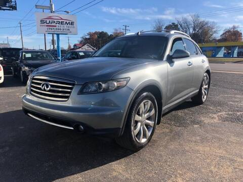 2006 Infiniti FX35 for sale at Supreme Auto Sales in Chesapeake VA