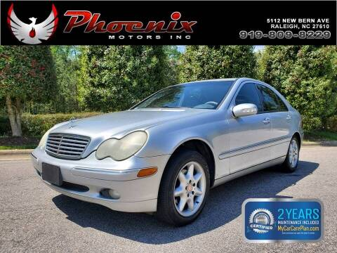 2002 Mercedes-Benz C-Class for sale at Phoenix Motors Inc in Raleigh NC